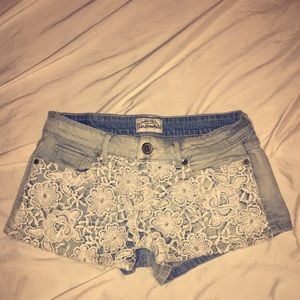 aeropostale lace shorts